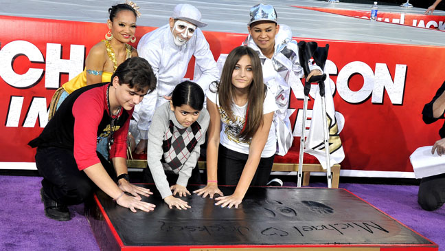 Michael Jackson's Kids Handprints Grauman's Chinese Theater - H 2012