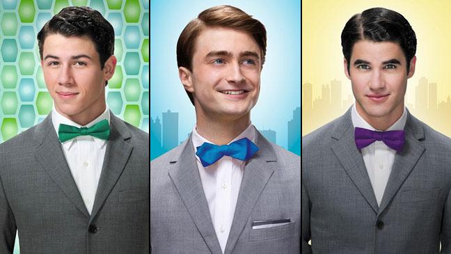 Nick Jonas Daniel Radcliffe Darren Criss Posters - H 2012