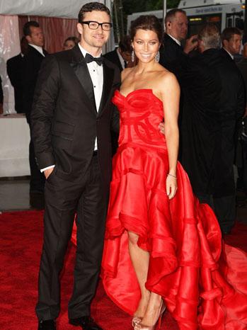 Justin Timberlake Jessica Biel MoMa Red Carpet - P 2011
