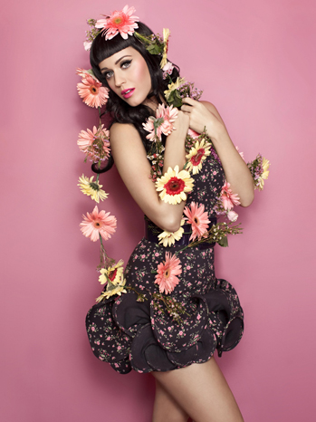 Katy Perry pink flowers publicity 2010 P