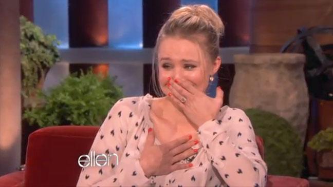 Kristen Bell Sloth Meltdown Ellen Show - H 2012