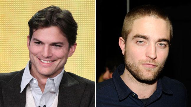 Ashton Kutcher Robert Pattinson Haircut Split - H 2012