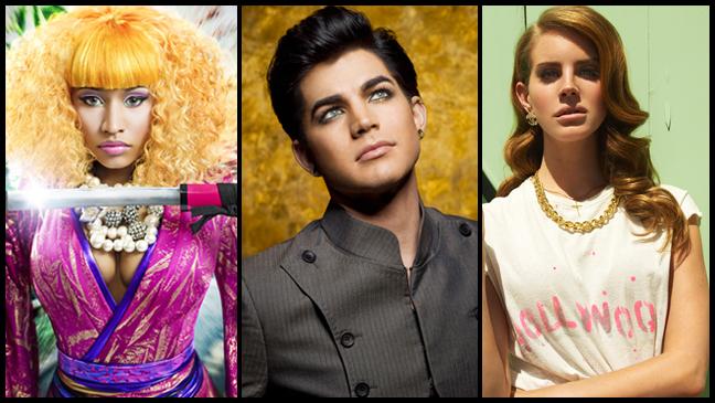 Nicki Minaj Adam Lambert Lana del Rey - split L