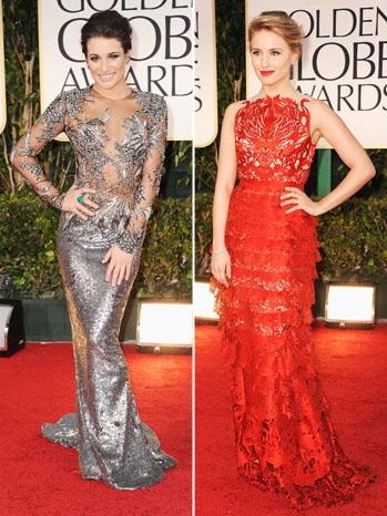 69th Golden Globes Lea Michele Diana Agron Split - P 2012