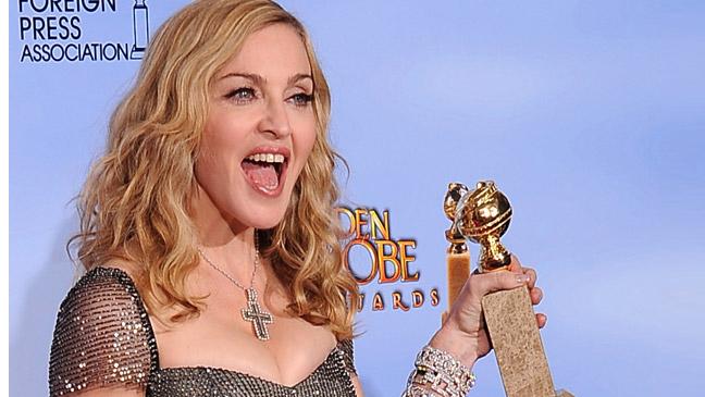Madonna Golden Globes press room L