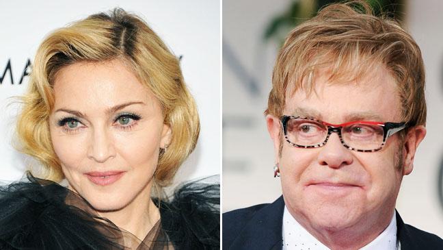 Madonna Elton John Split - H 2012