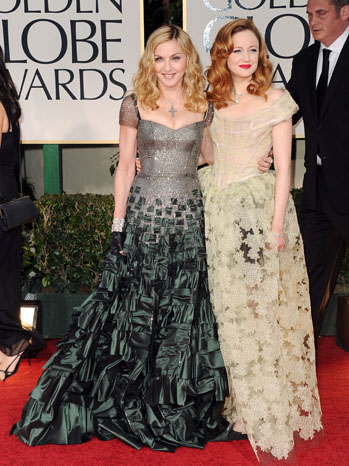 Madonna Andrea Risenborough Golden Globe Awards Red Carpet - P 2012