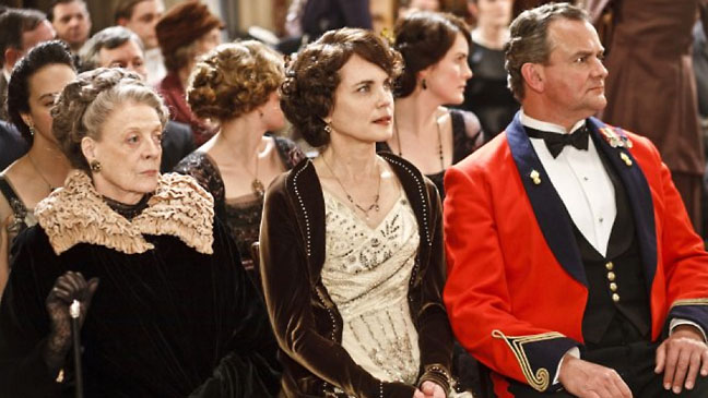 Maggie Smith Elizabeth McGovern Downton Abbey - H 2012