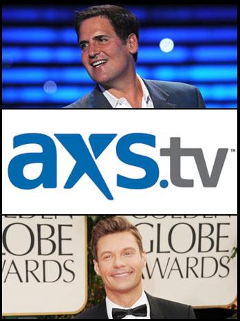 Mark Cuban AXS.tv Ryan Seacrest Split - P 2012