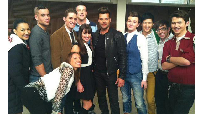 Glee - Ricky Martin Twitpic - H 2011