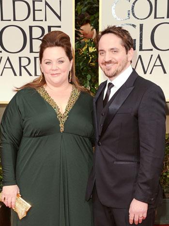 Melissa McCarthy Ben Falcone Golden Globes - P 2012