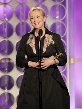 69th Golden Globes Meryl Streep Bleeped - P 2012