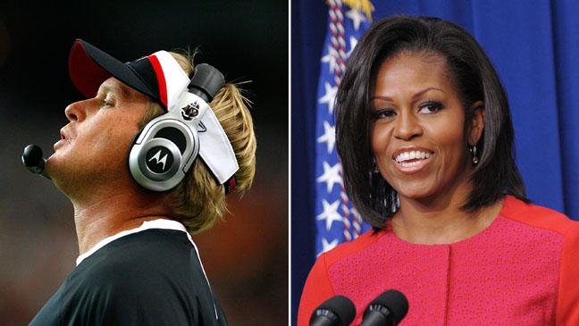 Michelle Obama Jon Gruden Split - H 2012