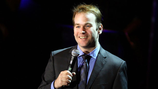 Mike Birbiglia on stage - H 2012