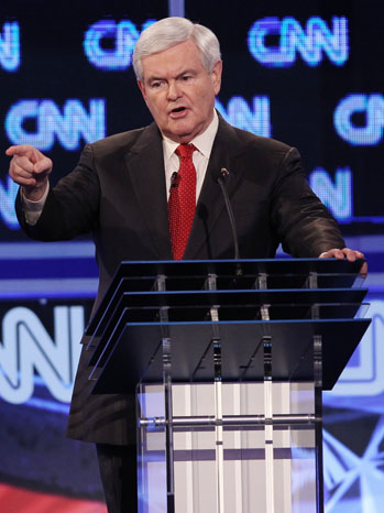 Newt Gingrich GOP Debate Jan 19 P