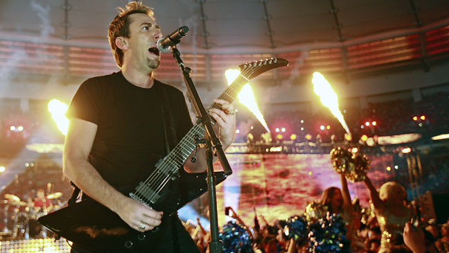 Chad Kroeger Nickelback Stage Fire - H 2012