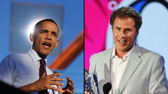 Obama Will Ferrell Split - H 2012