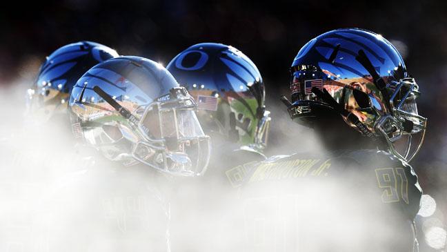 Oregon Ducks Rose Bowl Helmets - H 2012