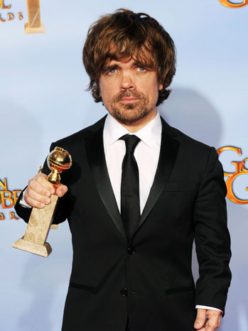 Peter Dinklage Golden Globe Awards Press Room - P 2012