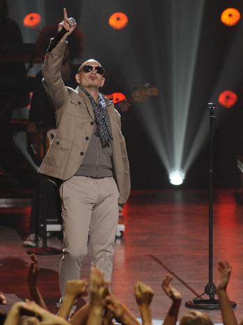 Pitbull X Factor finale P