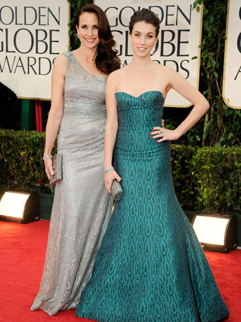 69th Golden Globes Rainey Qualley Andie MacDowell - P 2012