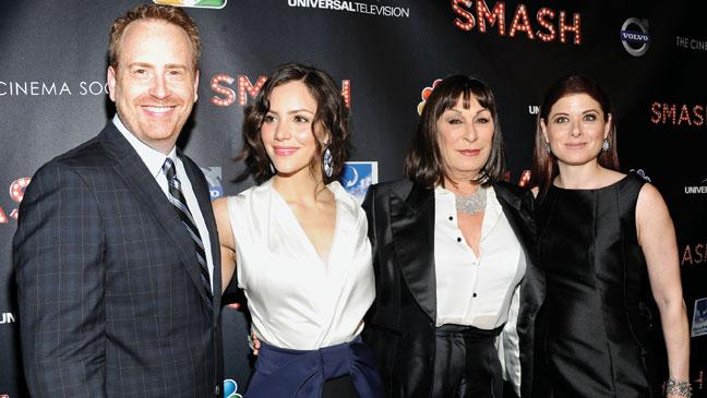 2012-05 REP Smash Cast Bob Greenblatt Katharine McPhee Anjelica Huston Debra Messing H