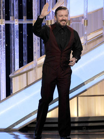 69th Golden Globes Ricky Gervais Walking - P 2012