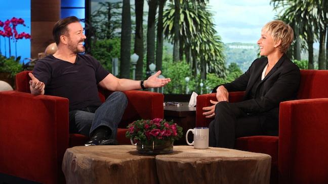 Ricky Gervais The Ellen DeGeneres Show H 2012