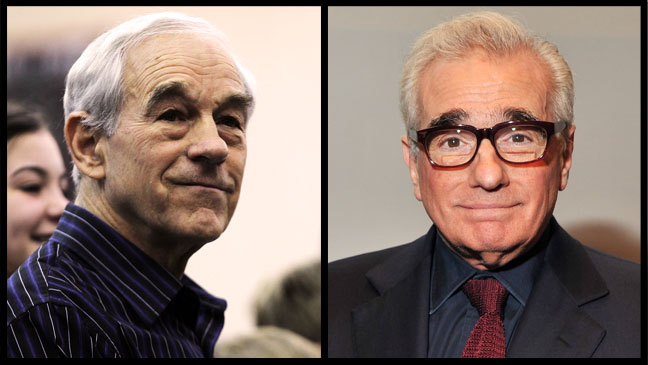 Ron Paul Martin Scorsese Eyebrows Split - H 2012