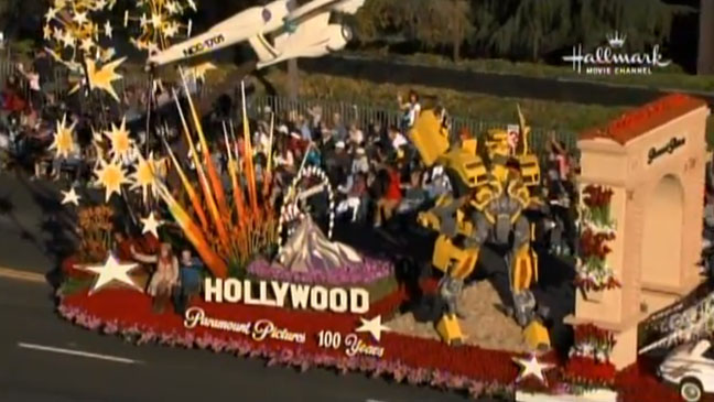 Rose Bowl Parade Paramount Float - H 2012