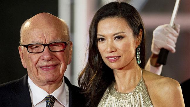 Rupert Murdoch Wendi Deng Red Carpet - H 2012