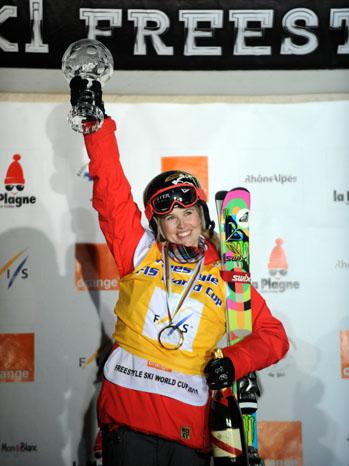 Sarah Burke Skier Podium - P 2012