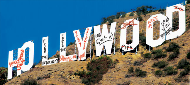 2012-04 BIZ SOPA Hollywood Sign Illustration