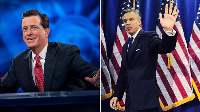Stephen Colbert Jon Huntsman Split - H 2012