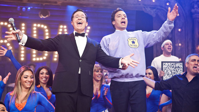 Stephen Colbert Jimmy Fallon Comdey with Music - H 2012