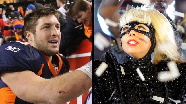 Tim Tebow Lady Gaga Split - H 2012