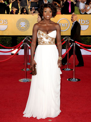Viola Davis SAG Awards Red Carpet - P 2012