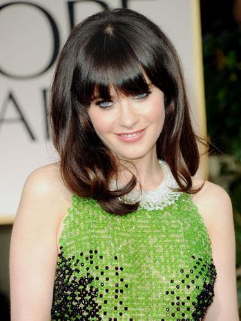69th Golden Globes Zooey Deschanel Red Carpet - P 2012