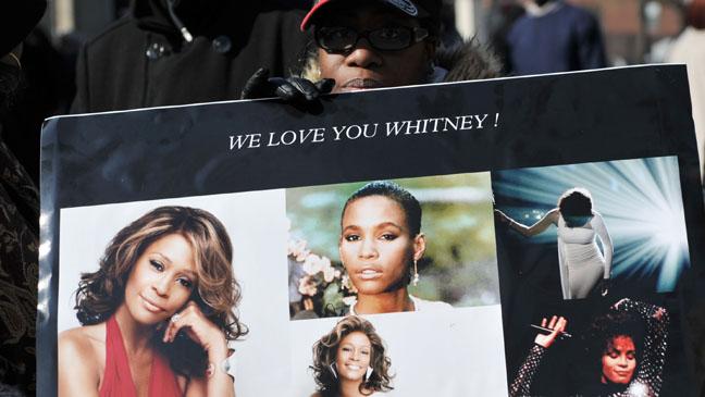 Whitney Houston Funeral Fan - H 2012