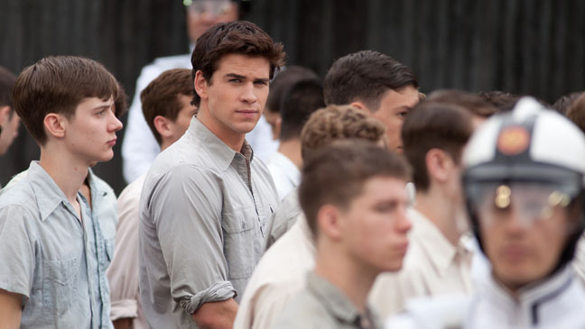 Liam Hemsworth as Gale in Crowd at the Reaping