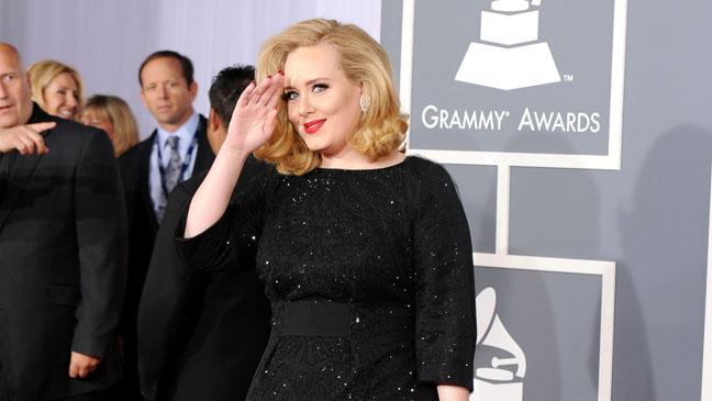 54th Grammy Awards Adele Red Carpet - H 2012