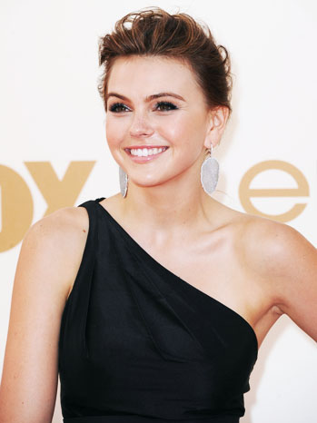 63rd Emmy Awards Aimee Teegarden Red Carpet - P 2012
