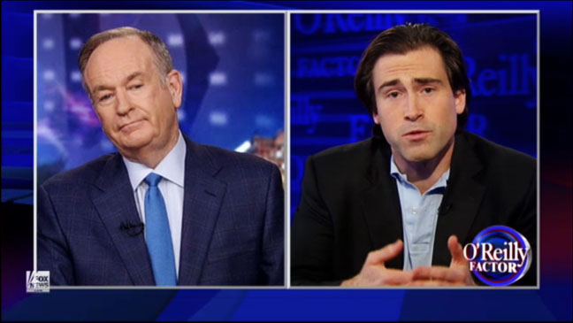 Sean Stone on Bill O'Reilly Screengrab - H 2012