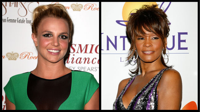 Britney Spears Whitney Houston Split - H 2012