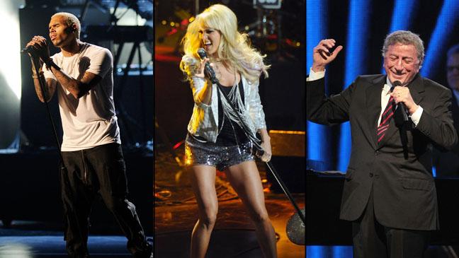 Chris Brown Carrie Underwood Tony Bennett Split - H 2012