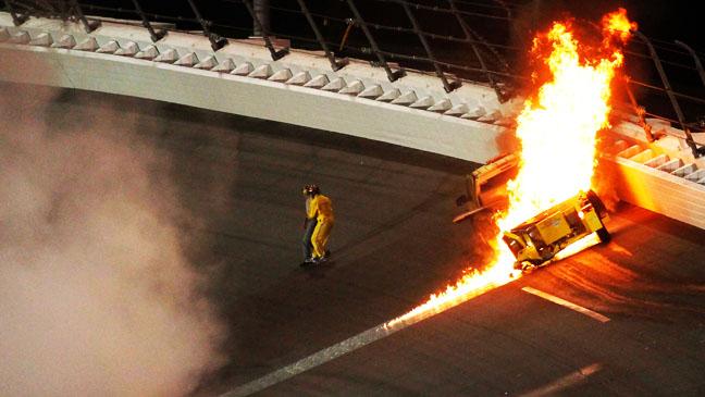 Daytona 500 Gas truck Crash - H 2012