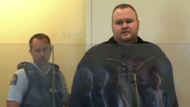 Kim Dotcom in custody - H 2012