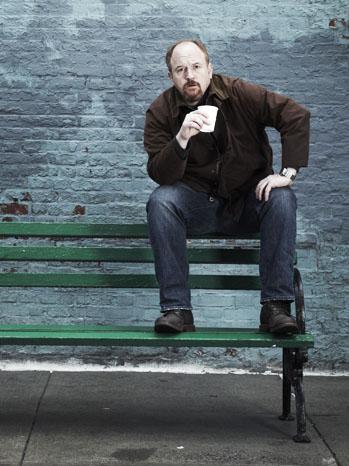 Louis CK Louie PR Image on bench - P 2012