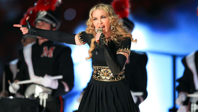 Madonna Super Bowl Halftime Pointing H 2012