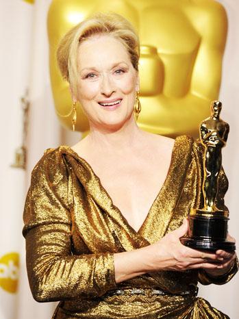 Meryl Streep with Oscar Statue - P 2012